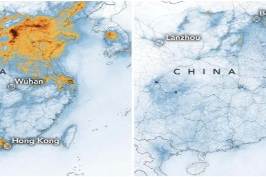 NASA Disminucion De La Contaminacion En China