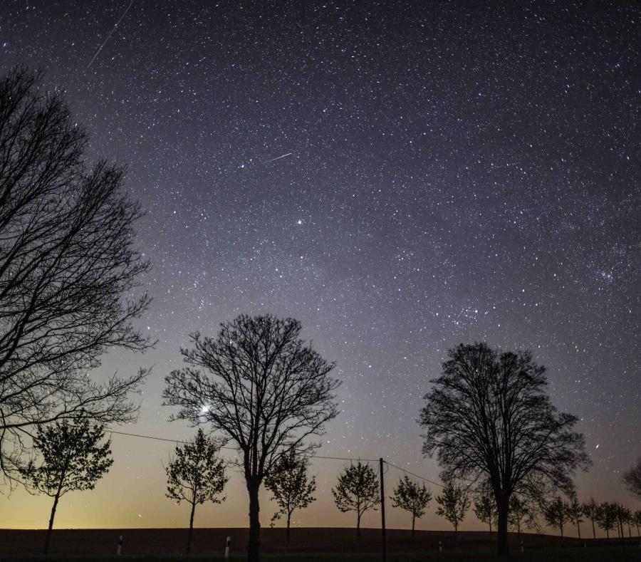 Cielo Estrellado Noche Petersdorf Alemania Oriental