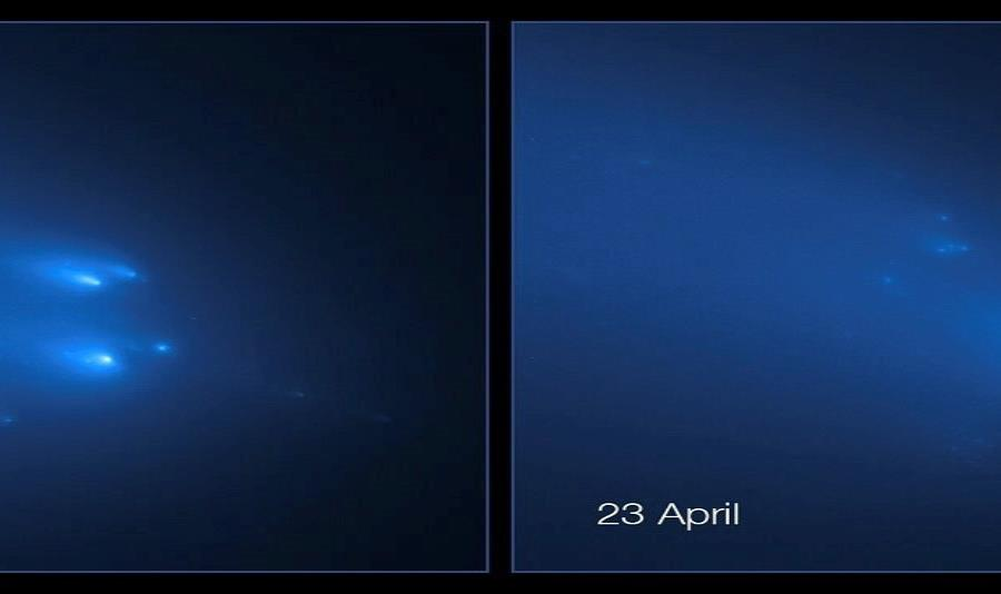 Hubble Imagenes Rotura Cometa Atlas