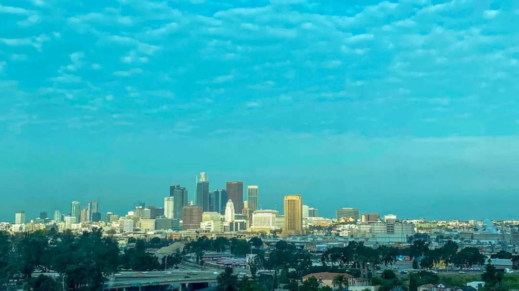 View Of Downtown Los Angeles California